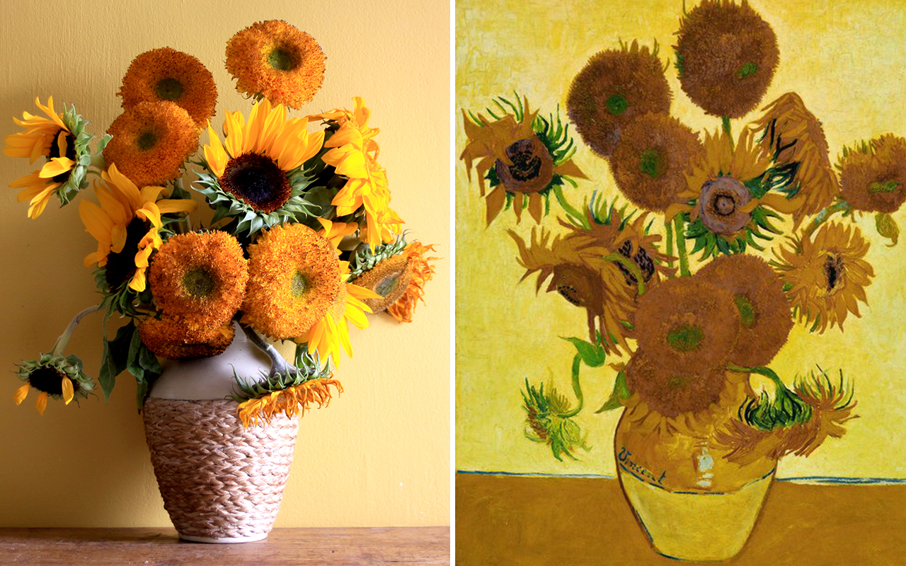 Boom Blooms — Behind the Great Masters. Van Gogh's Sunflowers