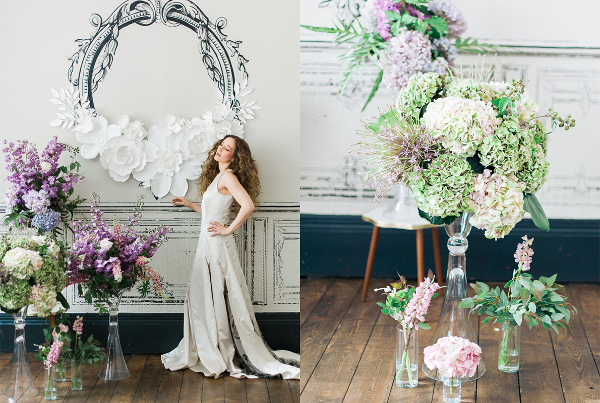 Boom Blooms Modern eclectic, city wedding inspiration